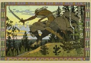 Koshchey the Deathless by Ivan Bilibin, 1901