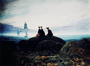 Caspar David Friedrich (1774-1840) Moonrise above the Sea, 1822