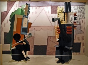 Picasso: Costumes for the roles of the Manager américain and the Manager français from the Exposition Ballets russes held at the Bibliothèque-musée de l'Opéra de Paris, 2009
