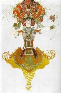 Leon Bakst: The Firebird, costume for Tamara Karsavina