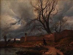 Julius v. Leypold (1806-1874)Wanderer in the Storm, 1835