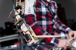 Here's a close-up look at the robotic arm. (Rob Felt/Georgia Tech)