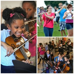 School music programs such as those in, clockwise from left, School District of Lancaster's Ross Elementary School, Pequea Valley High School and Ross Elementary, can have significant impact on brain development and maturation.