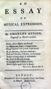 Avison's Essay on Musical Expression (1752)