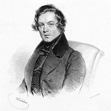 Robert Schumann in 1839 by Josef Kriehuber