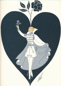 The silver knight of the rose, Octavian, from the cover of the Glyndebourne programme