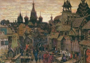 Old Moscow at the beginning of XVII century