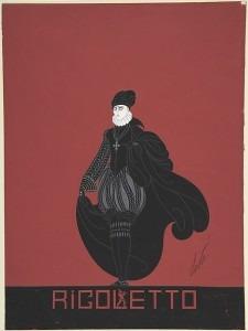 Design for Black Breaches, Cap and Cape for Ganna Walska in Rigoletto (Metropolitan Museum of Art)