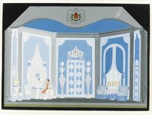 Design for the bedroom in Der Rosenkavalier