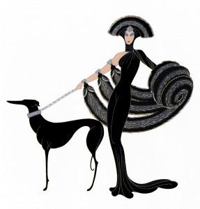 Erté design: Symphony in Black