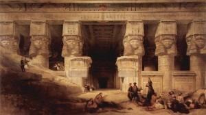 Roberts: The Temple at Dendera (1841)