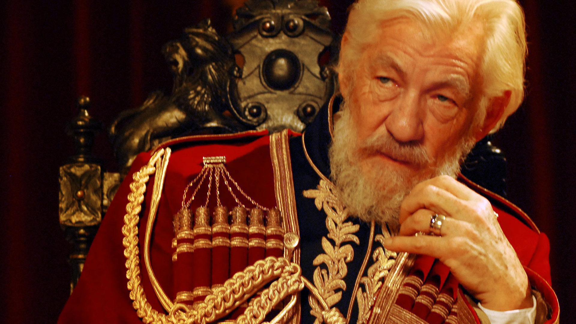 Ian McKellen, KING LEAR photo: Simon Farrell