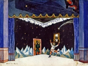 Petrushka's Room by Alexandre Benois