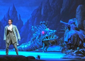 Opening scene of The Magic Flute