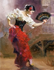 Spanish dancers (artist unknown)