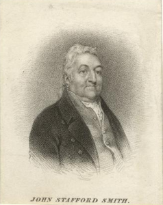 Portrait of John Stafford Smith by Thomas Illman after William Behnes, around 1820