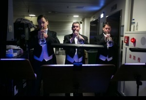 Backstage trumpets