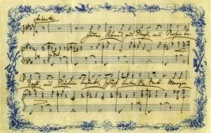 Brahms' lullaby original manuscript