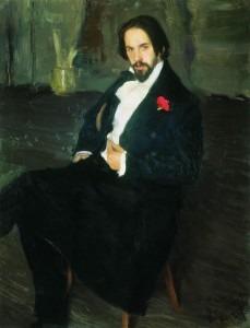 Portrait of Ivan Bilibin by Boris Kustodiev, 1901