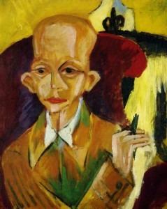 Ernst Ludwig Kirchner – Portrait of Oskar Schlemmer, 1914