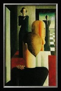 Oskar Schlemmer, Römisches, Vier Figuren im Raum, 1925