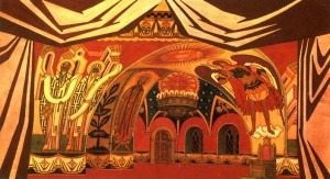 The Chambers In The Tsar's Tower. Stage-set design for Act Four of Rimsky-Korsakov's The Tale of Tsar Saltan, 1930