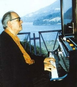Messiaen's house in Petichet with the composer at the keyboard