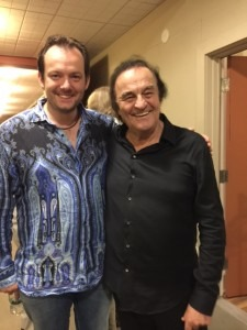Andris and Dutoit at the backstage