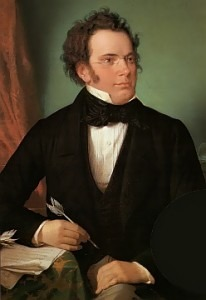 Oil painting of Franz Schubert by Wilhelm August Rieder (1875)