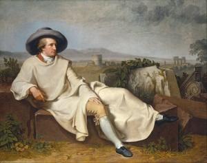 Goethe in the Roman Campagna (1786) by Johann Heinrich Wilhelm Tischbein