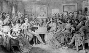 Schubertiade at Josef von Spaun's by Moritz von Schwind