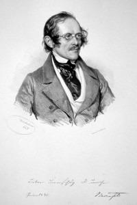 Eduard Bauernfeld  by Joseph Kriehuber (1845)