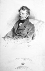 Franz Grillparzer by  Josef Kriehuber