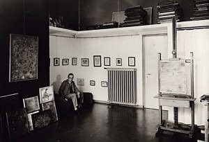Paul Klee (1879-1940) in his Studio at the Bauhaus