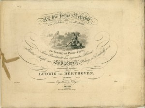 Cover for the first edition of An die ferne Geliebte