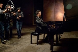 The pianist Lang Lang played a Steinway-designed piano during the filming of a music video in Beijing last February. Steinway has recruited celebrities like Mr. Lang for endorsements, which carry weight in the Chinese market. Credit: Adam Dean for The New York Times