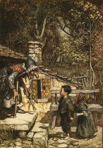 Arthur Rackham: Meeting the Witch (1909)