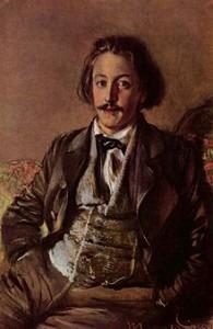 Paul Heyse by Adolf von Menzel