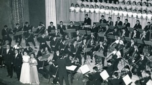 In 1959, Beethoven's Ninth Symphony was performed for the first time by an all-Chinese orchestra and sung in Mandarin. Courtesy of China National Symphony Orchecstra