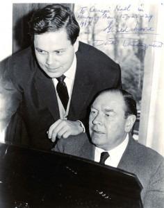 Dietrich Fischer-Dieskau with pianist Gerald Moore in 1967