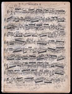 Yehudi Menuhin's annotated score of Bach's solo Violin Sonata No. 2 (source: The Strad magazine/website)