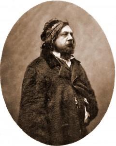 Théophile Gautier, by Nadar c1856-1