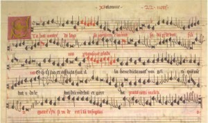 """Eton Choirbook,"" England, circa 1490, from ""John Brown: Music of the Eton Choirbook,"" Gimmell Records. Credit: http://liturgica.com/"