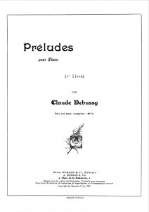 Debussy's title page for his Préludes