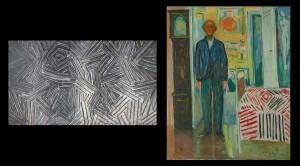 'Between the Clock and the Bed'Jasper Johns vs Edvard Munch