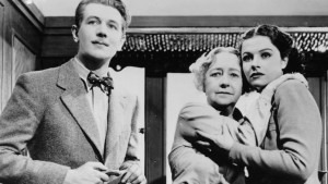 Michael Redgrave as the musicologist Gilbert, Dame May Whitty as Miss Froy, and Margaret Lockwood as Iris Henderson