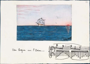 D. Argyrelly: Une barque sur l'océan, gouache owned by Ravel