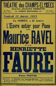 Poster from the 1923 Concert