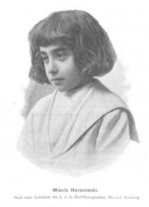 """Mieczysław """"Miecio"""" Horszowski in 1902"""