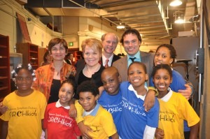 Neeta, Marin Alsop, and Orchestra kids